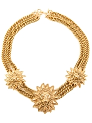Chanel Vintage Lion Plaque Choker Necklace