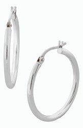 Women's Bony Levy 14K Gold Hoop Earrings White Gold