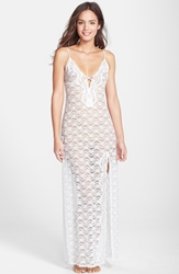 In Bloom By Jonquil 'Natalie' Stretch Lace Nightgown White