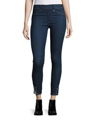 True Religion Eyelet Runway Leggings Enzyme Rinse