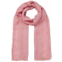 East Crochet Border Linen Scarf Blush