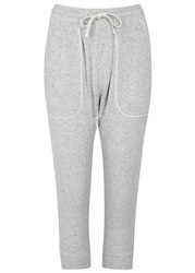 Nlst Grey Cropped Jersey Jogging Trousers Light Grey