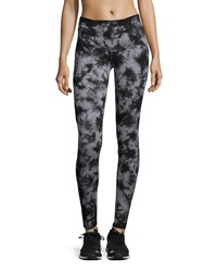 Marc New York Marc Ny Performance Tie Dye Flat Waist Leggings Black