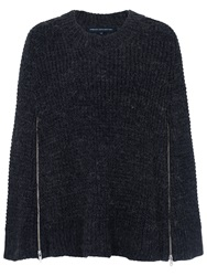 French Connection Cara Crew Neck Jumper Charcoal Mel