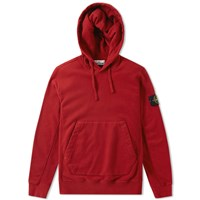 Stone Island Garment Dyed Heavyweight Popover Hoody Red
