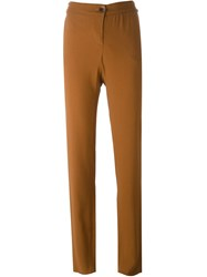 Emporio Armani High Waisted Trousers Brown