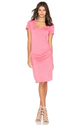 Velvet By Graham And Spencer Dina T Shirt Dress Coral