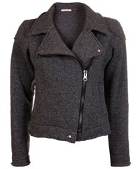 Wunderwerk Dark Grey Wool Biker Jacket
