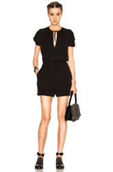 Mcq By Alexander Mcqueen Mcq Alexander Mcqueen Bubble Sleeve Romper In Black