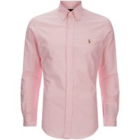 Polo Ralph Lauren Men's Slim Fit Button Down Stretch Oxford Shirt Pink