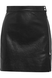 Iro Anja Rubik Patti Textured Leather Mini Skirt Black