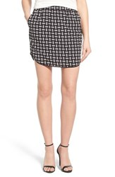 Trouve Women's Pull On Skirt Black Diamond Geo Print