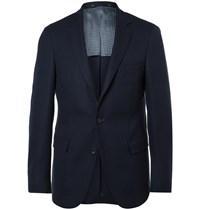 Hugo Boss Navy Roan Slim Fit Stretch Virgin Wool Blazer Blue
