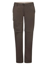 Craghoppers Nosilife Long Length Convertible Trousers Brown