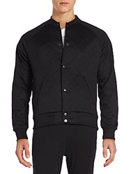 Sovereign Code Princeton Quilted Bomber Jacket Black