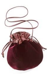 Cartel Drawstring Crossbody Pouch Burgundy