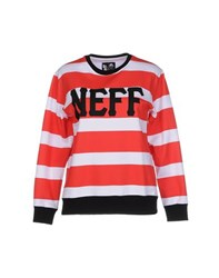 Neff Topwear Sweatshirts Women Red