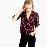 J.Crew Tall Classic Popover Shirt In Cherry Print