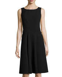 Marc New York By Andrew Marc Seamed Sleeveless Fit And Flare Dress Black