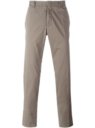 Z Zegna Straight Fit Chinos Grey