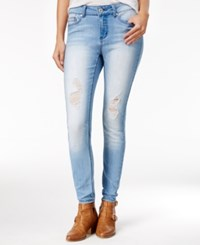 Indigo Rein Juniors' Ripped Skinny Jeans Light Blue