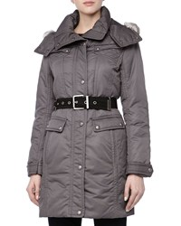 Andrew Marc New York Andrew Marc Passion Weather System Belted Coat Carbon Black