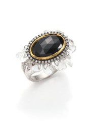 Coomi Silver Opera Diamond Black Spinel Crystal 20K Yellow Gold And Sterling Silver Ring Black Gold