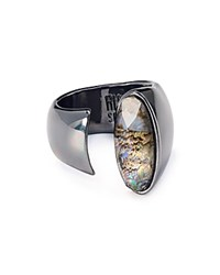 Robert Lee Morris Soho Open Structural Ring Abalone