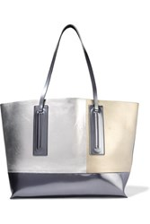Rick Owens Metallic Patent And Glossed Leather Tote Gunmetal