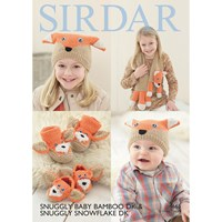 Sirdar Snuggly Baby Bamboo Dk Children's Hat And Scarf Knitting Paper Pattern 4665