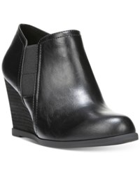 Dr. Scholl's Primo Wedge Booties Women's Shoes Black