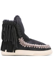 Mou Fringed Boots Grey
