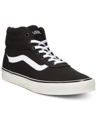 Vans Women's Milton Hi Canvas High Top Sneaker Women's Shoes Black White