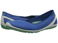 Ecco Biom Lite 1.2 Flat Cobalt Cobalt Granite Green Women's Slip On Shoes Blue