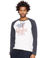 Denim And Supply Ralph Lauren Graphic Jersey Baseball Shirt Cream