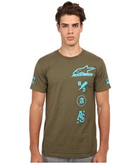 Alpinestars Grapple Tee Green Men's T Shirt