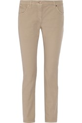 Brunello Cucinelli Mid Rise Tapered Jeans Nude