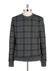 Ben Sherman Plaid Crewneck Sweatshirt Graphite