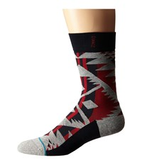 Stance Lowlands Red Men's Crew Cut Socks Shoes