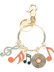 See By Chloa Music Pendants Hoop Keyring Metallic