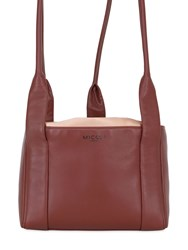 Micoli Silk Satin And Nappa Leather Tote Bag