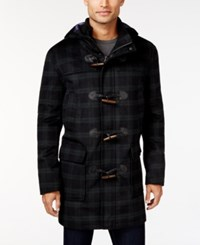 Tommy Hilfiger Barry Slim Fit Hooded Toggle Coat Black Green