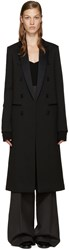 Victoria Beckham Black Wool Double Breasted Coat
