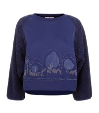 Adidas By Stella Mccartney Cropped Teddy Sweatshirt Female
