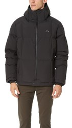 Lacoste Hooded Down Jacket Navy Navy Blue