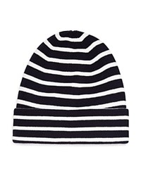 Bloomingdale's The Men's Store At Mini Stripe Hat Navy Ivory