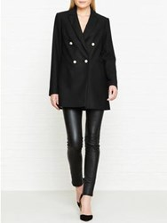Lk Bennett L.K. Ursula Double Breasted Blazer Jacket Black