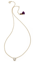 Shashi Solitaire Necklace Gold Clear