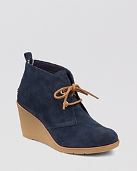 Sperry Lace Up Platform Wedge Booties Harlow