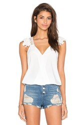 Vava By Joy Han Samira Ruffle Top White
